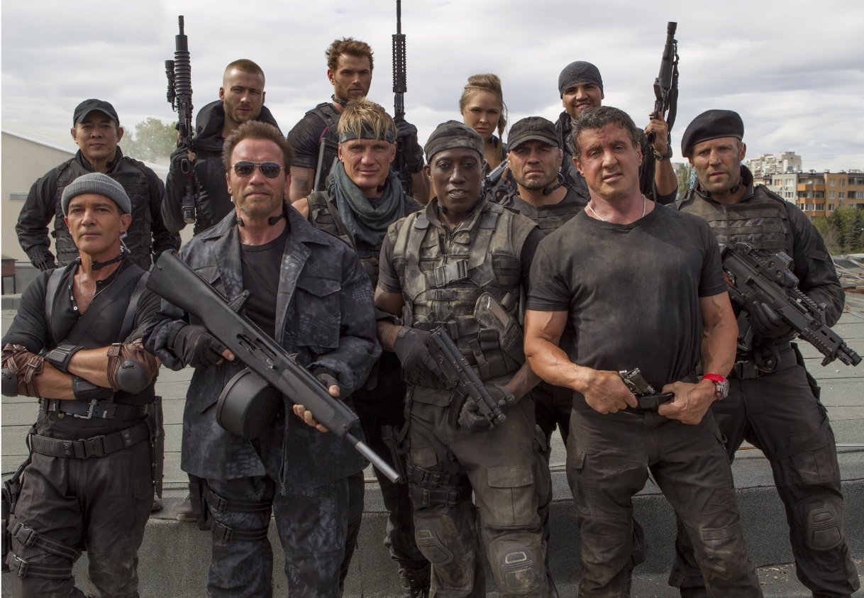 Main cast members of the Expendables 3