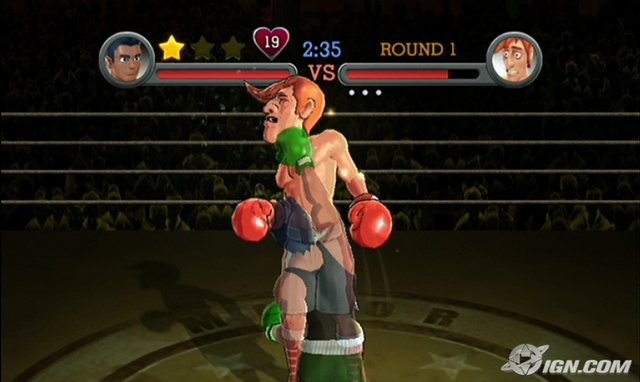 Little Mac Punches Glass Joe in Wii Punch Out!!